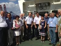 """06.08.2013 – Besichtigung des Containerschiffes """"CSCL STAR"""""""